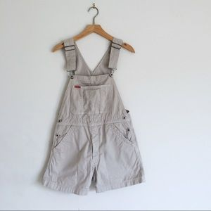 Vintage romper IKEDA overalls shorts beige small